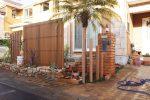 ロックガーデンと人工芝