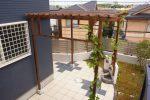 日よけと子供と遊べる新築庭づくり
