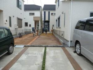造園工事駐車場掘削