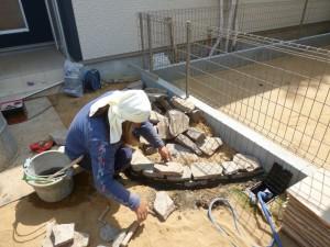 造園ロックガーデン石積み