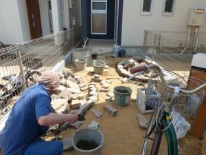 造園工事石積み