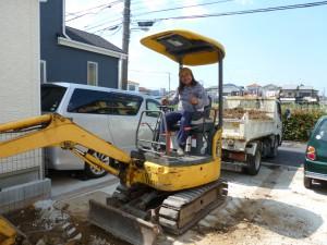 造園工事土間掘削