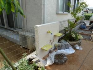 塗り壁・立水栓