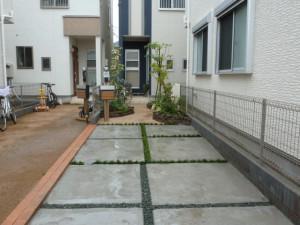 東京都江戸川区新築造園工事