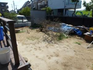 砂埃の新築のお庭