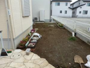 千葉県松戸市新築造園工事