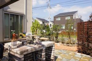 ガーデンキッチン,石の庭